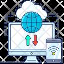 Cloud Data Cloud Hosting Cloud Services Icon