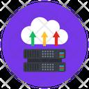 Cloud Data Cloud Dataserver Cloud Hosting Icon