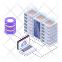 Cloud Hosting Data Hosting Cloud Data Icon