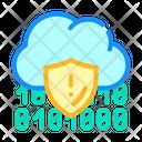 Cloud Data Cloud Protection Cloud Icon