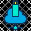 Cloud Data Penndrive Icon