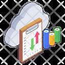 Cloud Data Analytics Cloud Data Cloud Analytics Icon