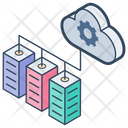 Cloud Data Center Icon