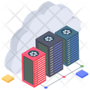 Cloud Data Center Cloud Computing Cloud Technology Icon