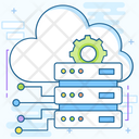 Cloud Data Center Cloud Hosting Cloud Storage Icon