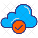 Cloud Data Check Cloud Storage Icon