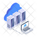 Cloud Services Cloud Data Display Data Centers Icon