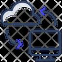 Cloud Data Exchange Icon