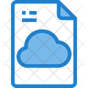 Cloud Cloud Data File Storage File Icon