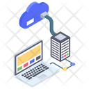Cloud Data Hosting Icon