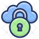 Cloud Data Lock Cloud Protection Cloud Safety Icon