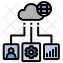 Cloud Data Management Icon