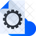 Cloud Data Management Cloud Setting Cloud Configuration Icon