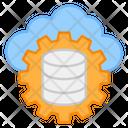 Cloud Data Management Cloud Database Cloud Data Setting Icon