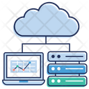 Cloud Data Network Icon