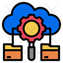 Cloud Data Process Analysis Icon