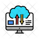 Cloud Data Processing Upload Download Icon
