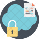 Cloud Data Protection Icon