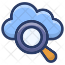 Cloud Data Search Icon