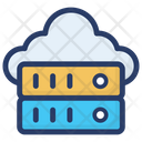 Cloud Data Server Cloud Server Hosting Cloud Computing Server Icon