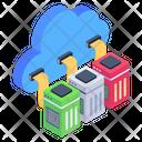 Cloud Data Data Storage Cloud Data Servers Icon