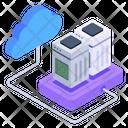 Cloud Data Servers Icon