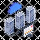 Server Network Cloud Data Servers Datacenter Network Icon