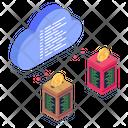 Shared Datacenter Shared Server Cloud Data Sharing Icon