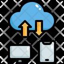 Cloud Data Sharing Cloud Data Exchange Cloud Data Transfer Icon
