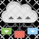 Cloud Data Sharing Icon