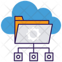 Cloud Data Storage Cloud Computing Cloud Hosting Icon