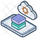 Cloud Data Storage Cloud Computing Cloud Technology Icon