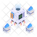 Storage Network Cloud Data Storage Cloud Services Icon