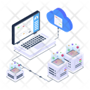 Cloud Hosting Cloud Computing Cloud Data Storage Icon