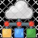 Cloud Data Cloud Network Cloud Connection Icon