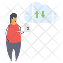 Cloud Data Technology Icon