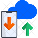 Cloud Data Transfer Data Sync Synchronize Icon