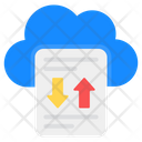 Cloud Data Transfer Cloud Data Cloud Hosting Icon