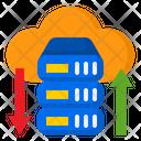 Cloud Data Transfer Server Transfer Icon