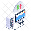 Cloud File Transferring Cloud Data Transfer Storage Data Transfer Icon