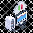Cloud File Transferring Cloud Data Transfer Storage Data Transfer Icon