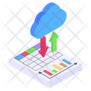 Cloud File Transferring Cloud Data Transfer Cloud Analytics Icon
