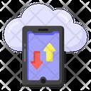 Cloud Data Transfer Cloud Data Cloud Hosting Icon
