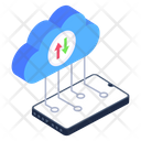 Cloud Data Transfer Icon
