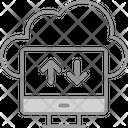 Cloud Data Transfer Storage Icon