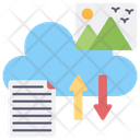 Cloud Data Transfer Cloud Uploading Cloud Downloading Icon