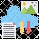 Cloud Data Transfer Cloud Uploading Cloud Downloading Icon