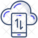 Cloud Data Transfer Cloud Data Exchange Cloud Data Rotation Icon