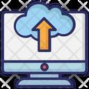 Cloud Upload Tray Uploading Icon
