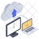 Cloud Uploading Data Uploading Cloud Computing Icon